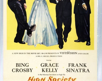 High Society - Frank Sinatra - Grace Kelly - Bing Crosby - Fridge Magnet – New