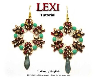 Tutorial Lexi Earrings - beading pattern