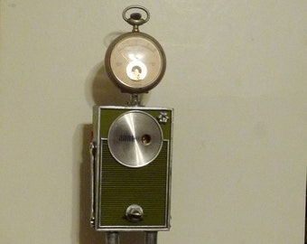 Radio Jade Found Object Recycled Art AssemblageSculpture Robot