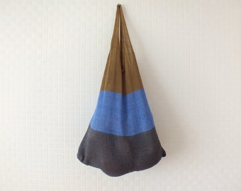 Large shoulder tote bag - Shopping Bag - Beach bag - Linen tote - Knitted bag
