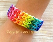 Rainbow Loom friendship bracelet rubber bands multicolor and glow in the dark bands