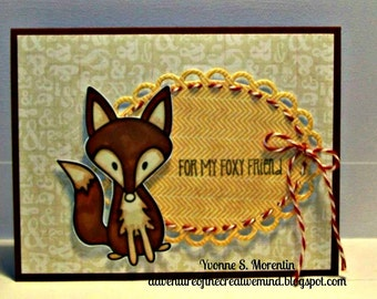 For My Foxy Friend Greeting Card...