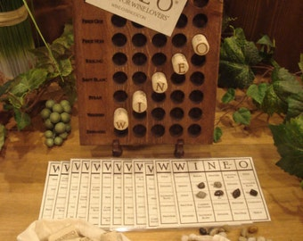 WINE-O®, Bingo for Wine Lovers®, a unique wine game and perfect gift for wine lovers
