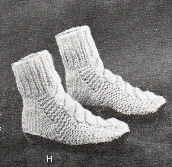 Cable Knit Socks Pattern : PDF Knitting Pattern Ladies Cable Knit by BusyBeaverBoutique
