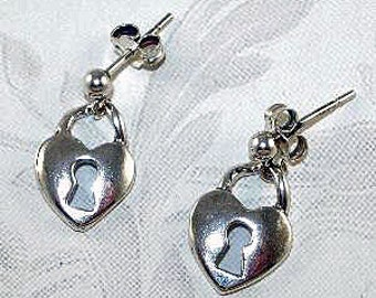 925 Sterling Silver Heart with a Key Hole
