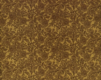 RJR Fabrics Audrey Wright Briarcliff 1669 01 Tonal Floral Gold by the Yard