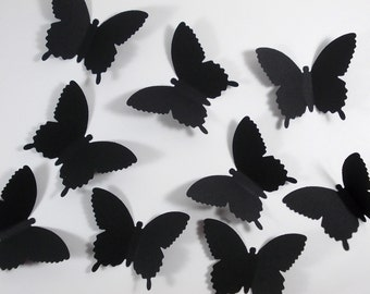 "Black Butterfly Confetti, Butterfly Cutouts, Party Decoration, Table Confetti, 50 Ct., 2.25"", Ships in 2-3 Business Days"