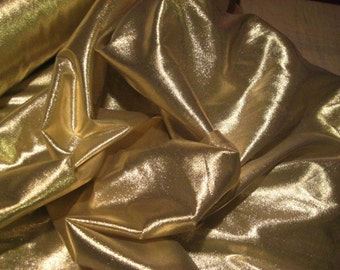 "25 Yard, 45"" Gold Lame Fabric Roll"