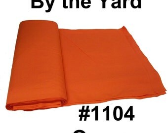 "45"" Orange Broadcloth Fabric - 20 Yard Bolt"