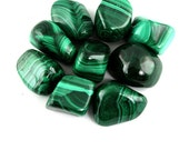 Malachite Tumbled Gemstone Crystal