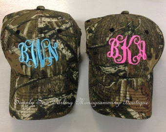 Embroidered Personalized Monogrammed Camo hat cap