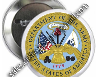 Army 2.25 inch  button