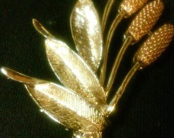 Beautiful Cattail Brooch