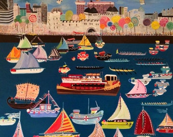 Royal Diamond Jubilee, Tower of london, River thames,barge, port, boats,flotilla,gloriana, Her majesty, Air balloons,canary wharf. oarsman.s