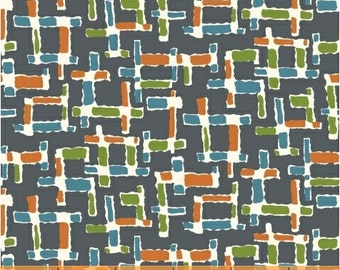 Fabric by the Yard, Gray Modern Quilting Fabric, Downtown by LB Krueger, Woven Textures, Multi-Colored Crosshatch, Windham Fabrics