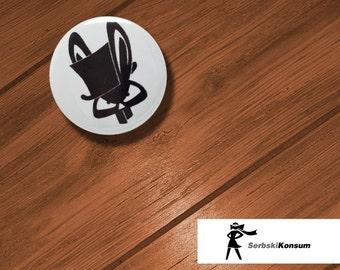 Lapel button. ZAJAC | SerbskiKonsum 25mm