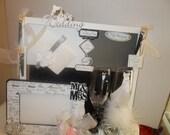 ELEGANT WEDDING GIFT Wedding Picture Frame Wedding Wine Glasses Wedding Gift Box