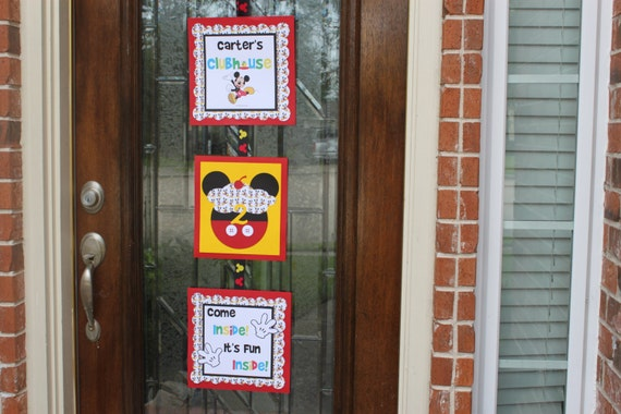 Mickey Mouse birthday party door sign