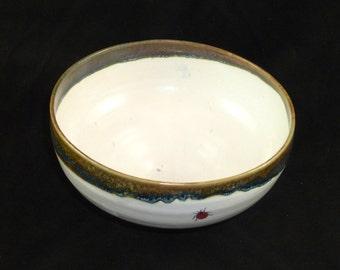 Porridge bowl with ladybirds
