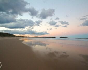 Dusky Evening, Australia Beach Photos, Minimalist Beach Art, Beach photos, Australia, Dusky Evening Photos, Sunset Beach, Dusky Beach photos