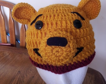 winnie the pooh character crochet beanies
