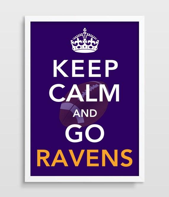 keep calm football print baltimore ravens home decor