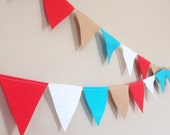 15 ft Custom Large Felt Bunting Pennant Garland Party Decoration or Nursery Decor