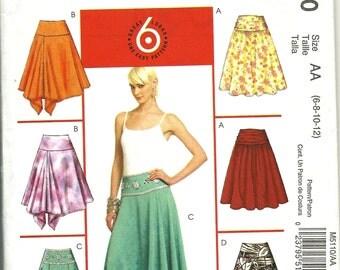 McCalls pattern M 5110   Misses flared skirts  Size 6,8,10,12   UNCUT