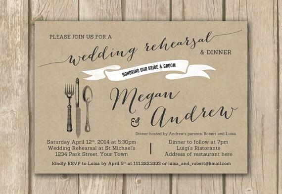 Pre Wedding Dinner Invitation: Wedding Rehearsal Invitations Rehearsal By