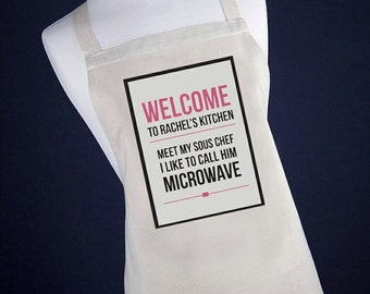 Personalised Sous Chef Apron