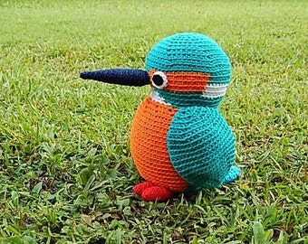 Amigurumi Crochet Pattern - Kingfisher  Pattern No.28