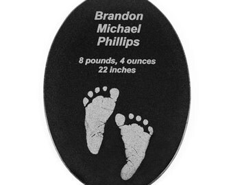 Engraved granite tile -- great for personalized gifts, memorials, awards, etc.
