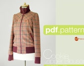 PDF sewing pattern. Women Zipper Blouson -Cookie- (size 34-48)