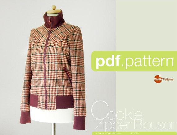 PDF sewing pattern. Women Zipper Blouson -Cookie- (size 34-48)