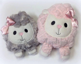 Lydia Lamb Plushie ITH Embroidery Design