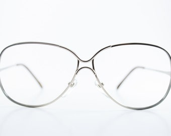 Vintage 1980s Silver and Blue Eyeglass Frame - Love Lace