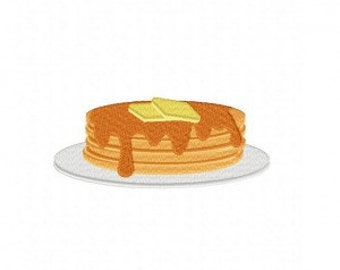 Pancakes Machine Embroidery Design