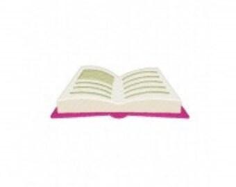 Open Book Machine Embroidery Design