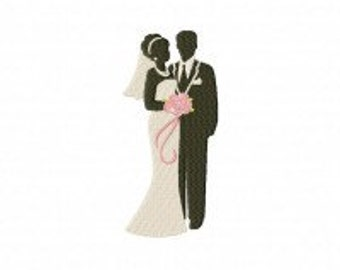 Bride and Groom Machine Embroidery Design