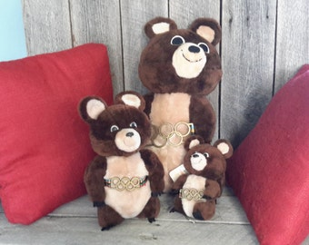 Olympic Teddy Bears - Set of 3