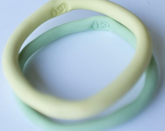 lemon yellow - stained - porcelain bracelet no.1