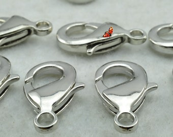 Antique Silver plated lobster clasp 14x27mm,30 pcs