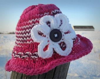 SunHat KNITTING PATTERN PDF - Baby hat knit pattern - Sun hat - Knit pattern - Baby Hat - Colourful Hat