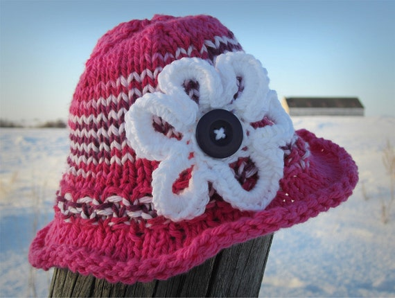 SunHat KNITTING PATTERN PDF - Baby hat knit pattern - Sun hat - Knit pattern ...