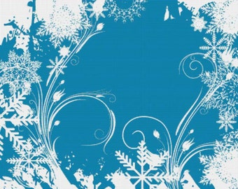 Winter Swirls PDF Cross Stitch Pattern
