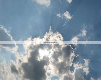 Sun Behind the Clouds, Cloudy Sky Photo Print, Fine Art Photography