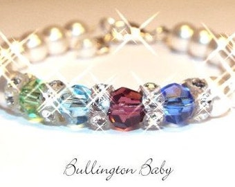 Mothers Bracelet, Grandmothers Bracelet, Family Jewelry, Birthstone Bracelet, Family Birthstone Bracelet, Mothers Birthstone Bracelet (A3)