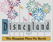 1960s Disneyland Sign with Fireworks