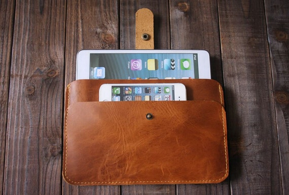 ipad mini case ipad sleeve - Simple Style ipad sleeve covers for ipad mini - Best cow leather Made BM007