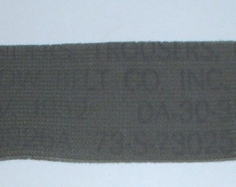 US Army M-1950 trouser suspenders Krasnow Belt Co 1952; New Old Stock
